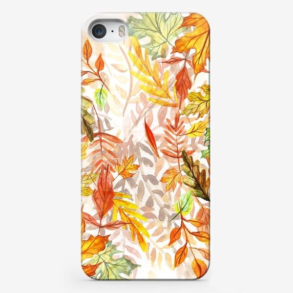 Чехол iPhone «Осенние листья. Акварель»