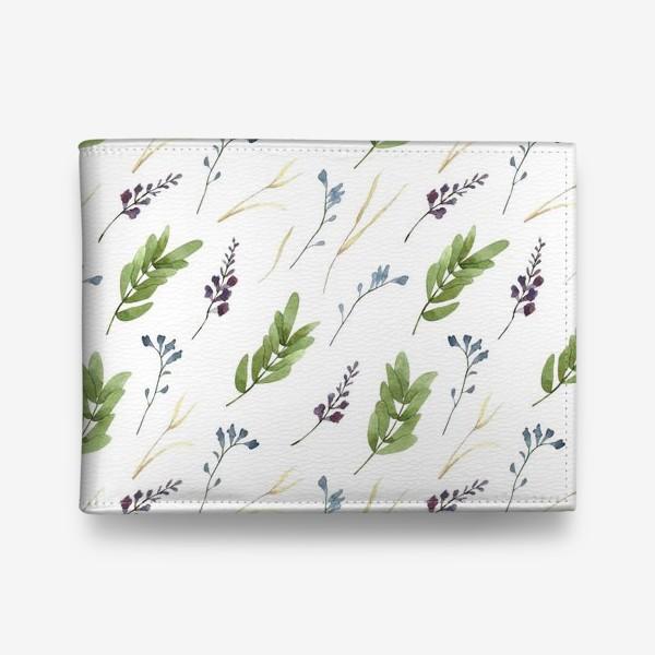 Кошелек «Акварельные полевые цветы»
