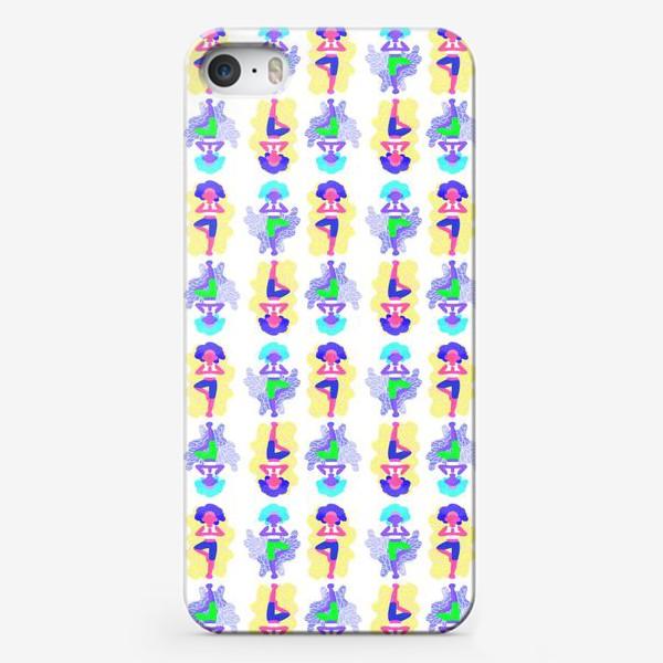 Чехол iPhone «Йога девчонки»