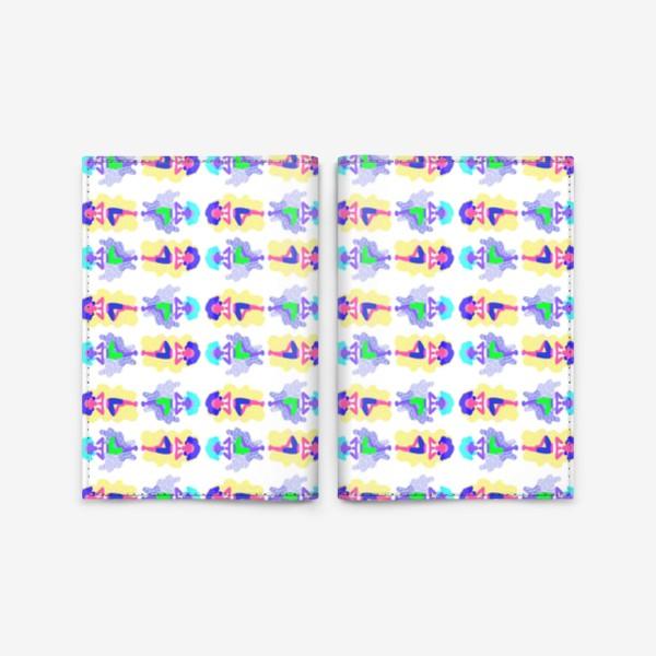 Обложка для паспорта «Йога девчонки»