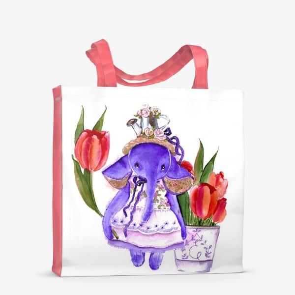 Сумка-шоппер «Фиолетовый слон»