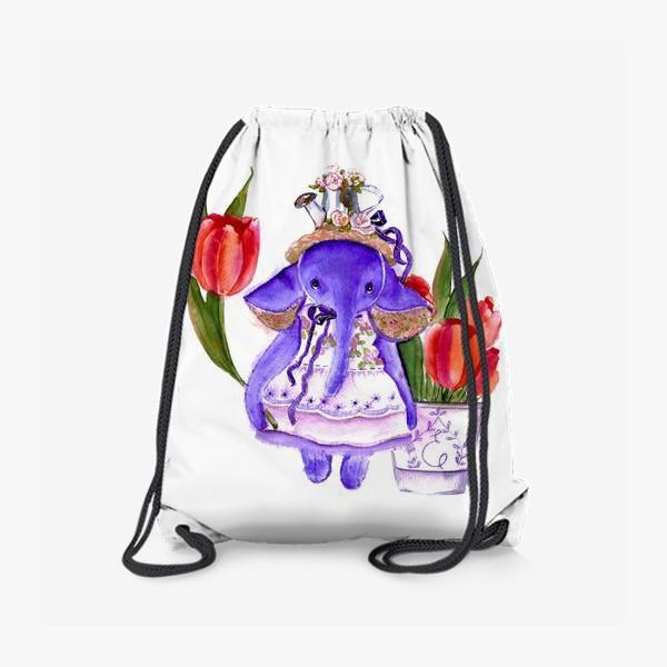 Рюкзак «Фиолетовый слон»