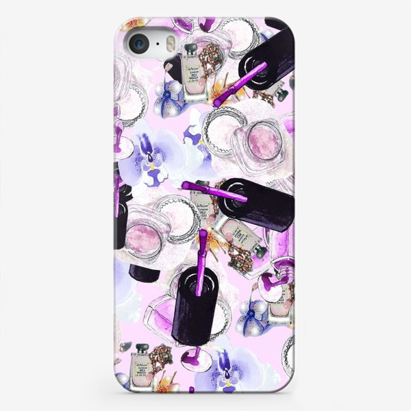 Чехол iPhone «Fashion Nails Орхидея Лак Пудра»