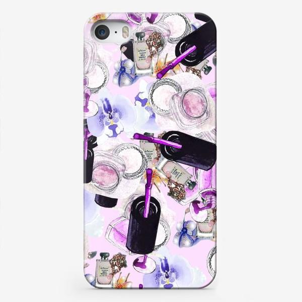 Чехол iPhone «Fashion Nails Орхидея Лак Пудра»