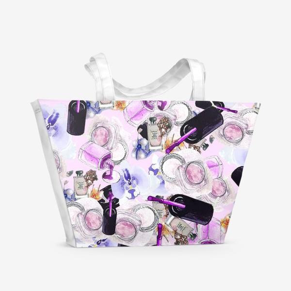Пляжная сумка «Fashion Nails Орхидея Лак Пудра»