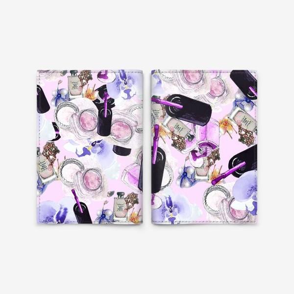 Обложка для паспорта «Fashion Nails Орхидея Лак Пудра»