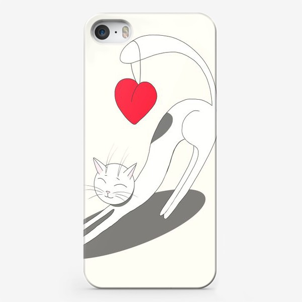 Чехол iPhone «Влюбленный кот»