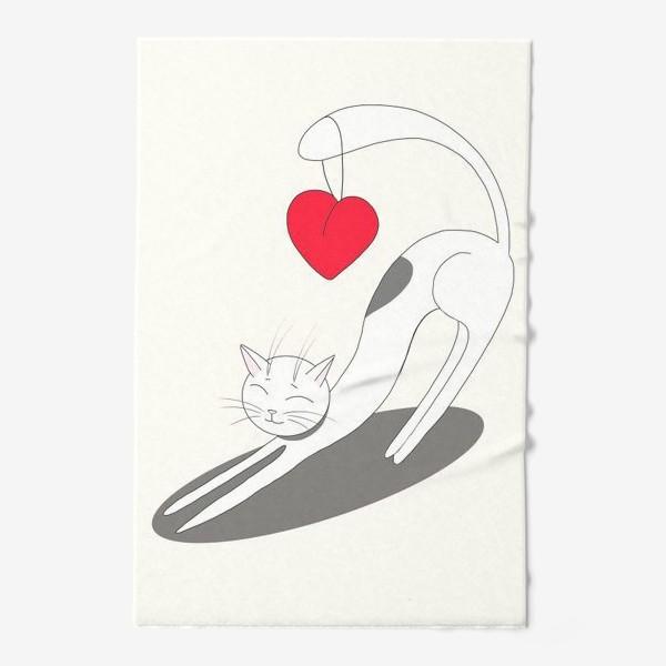 Полотенце «Влюбленный кот»