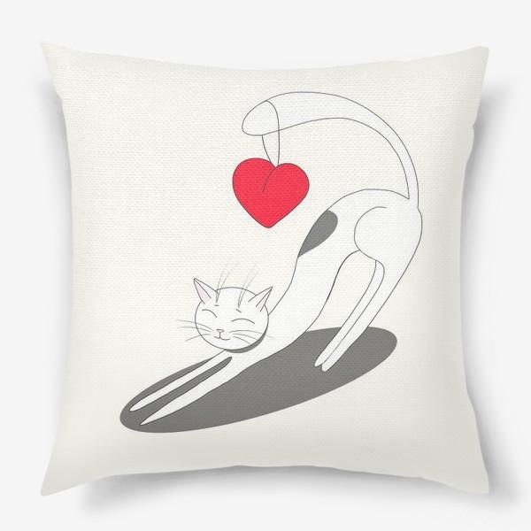 Подушка «Влюбленный кот»