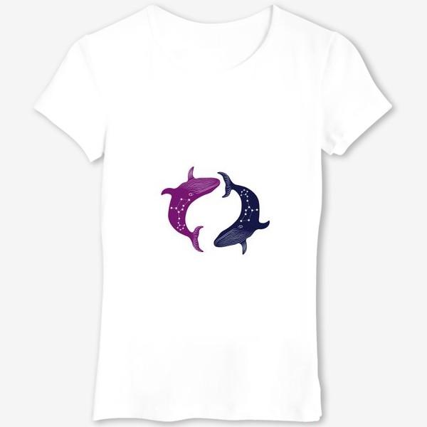 Футболка «ying yang whales»