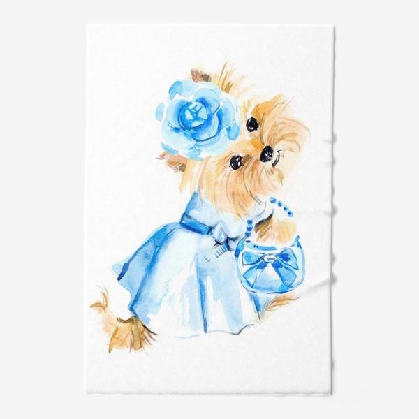 Полотенце «Йорк в голубом платье»