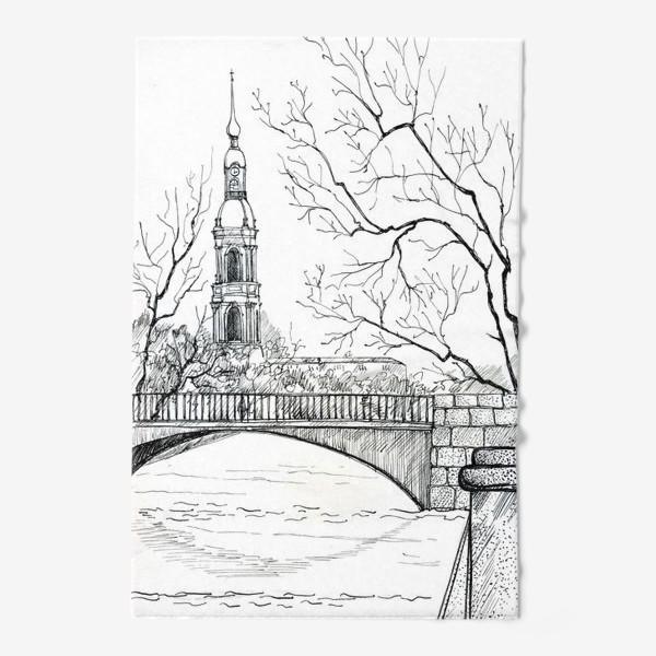 Полотенце «Петербург графичный»