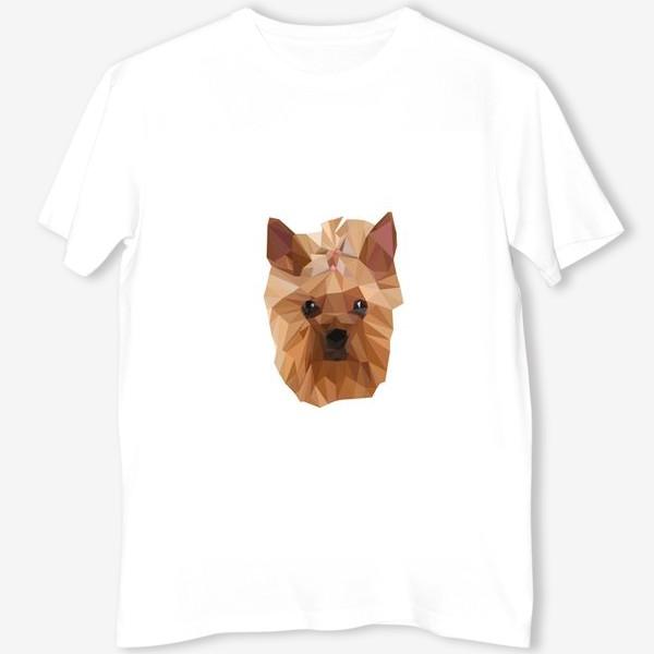 Футболка «Йоркширский терьер, милейшая собака в стиле лоу-поли»