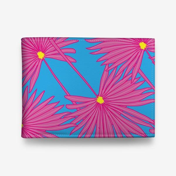Кошелек «Паттерн пальмы на голубом»