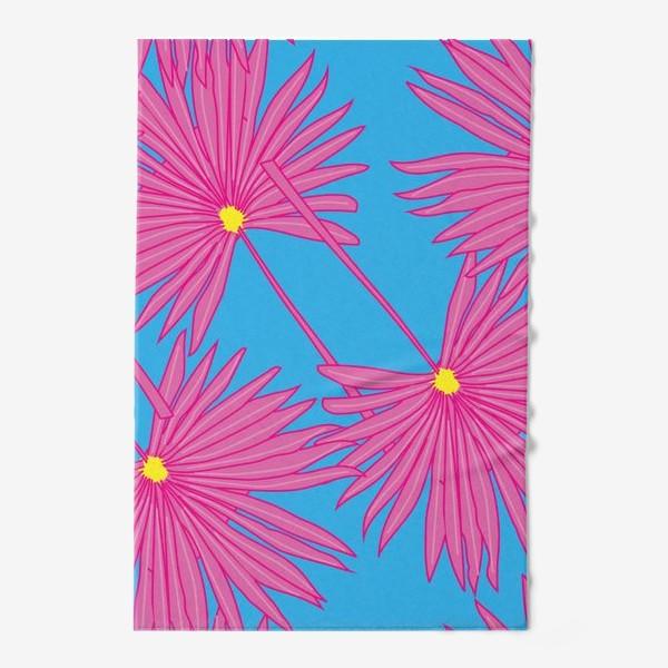 Полотенце «Паттерн пальмы на голубом»