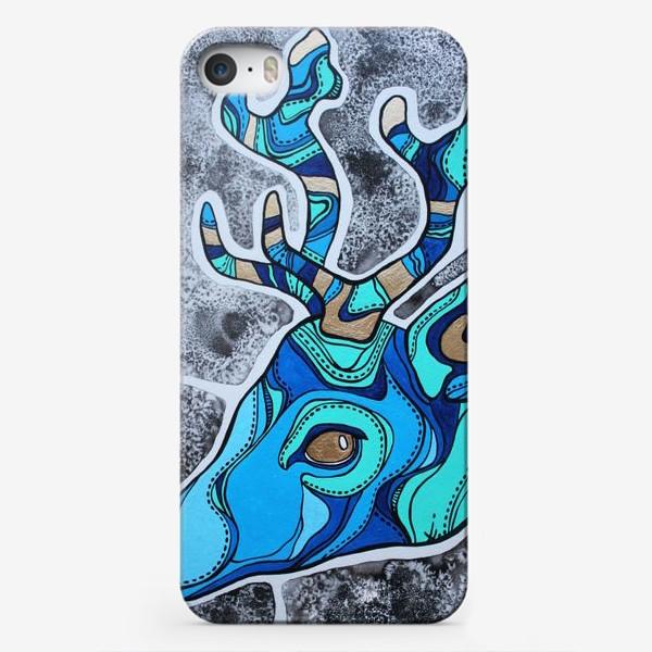 Чехол iPhone «Голубой олень»
