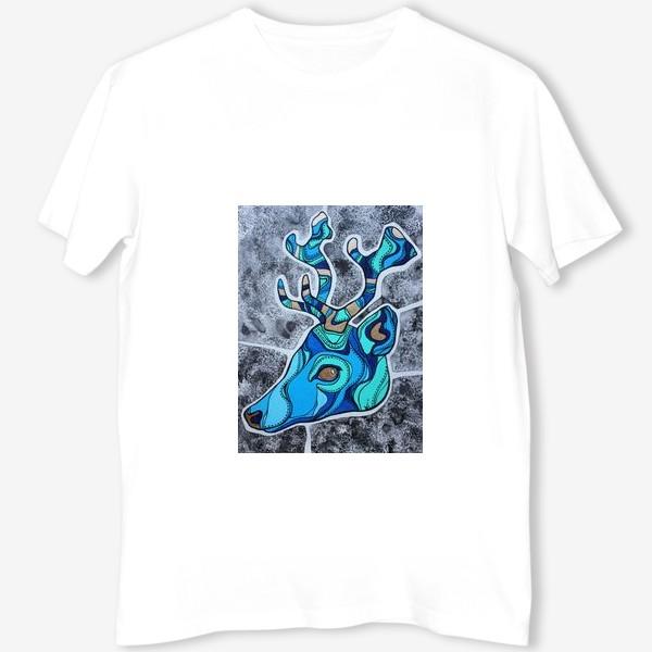 Футболка «Голубой олень»