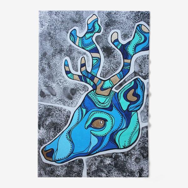 Полотенце «Голубой олень»