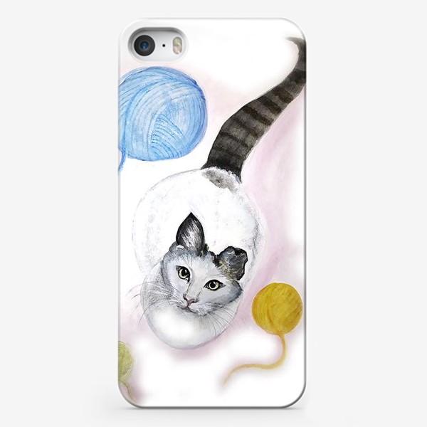 Чехол iPhone «Кот и клубок»
