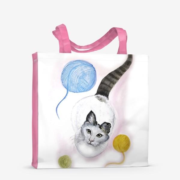 Сумка-шоппер «Кот и клубок»