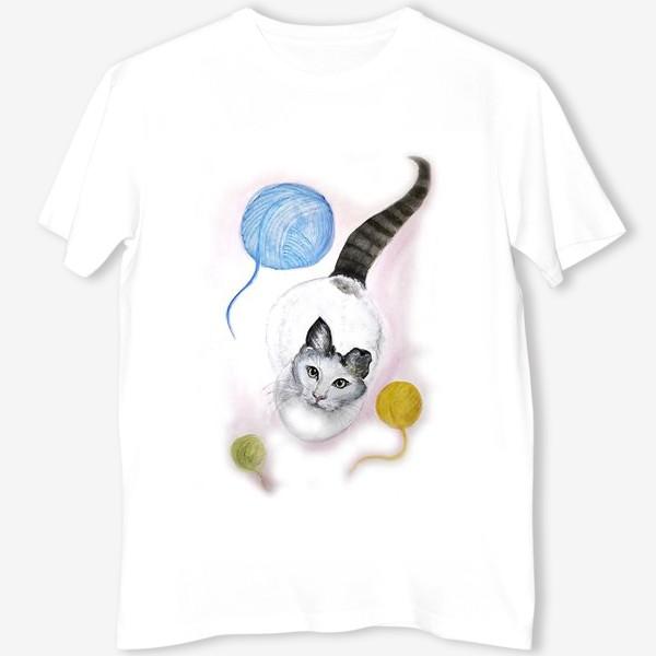 Футболка «Кот и клубок»