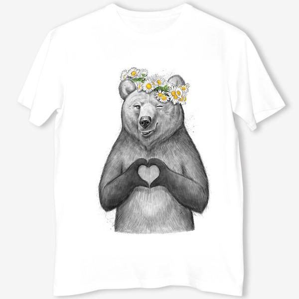 Футболка «Медведица с сердцем»