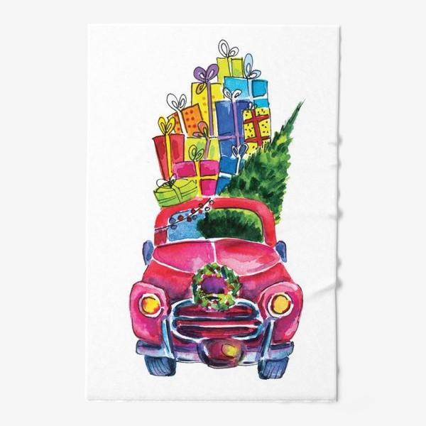 Полотенце «Новогодняя машина»