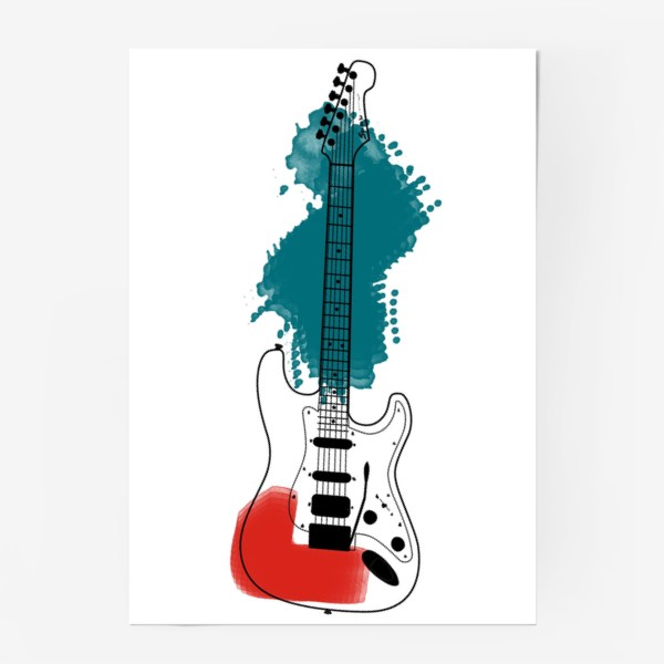 Постер «Арт гитара»