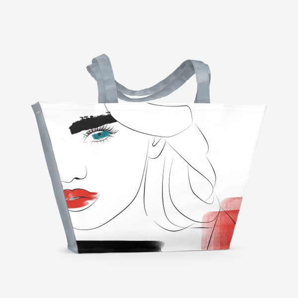 Пляжная сумка «  Арт девушка»