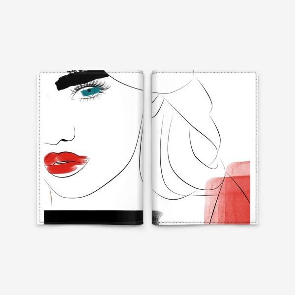 Обложка для паспорта «  Арт девушка»