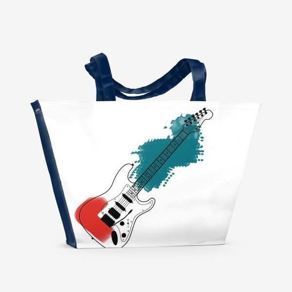 Пляжная сумка «Арт гитара»