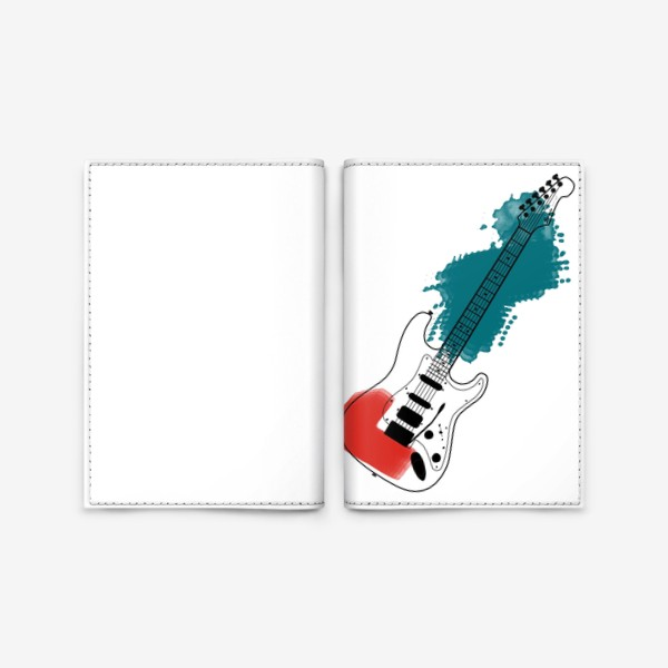 Обложка для паспорта «Арт гитара»