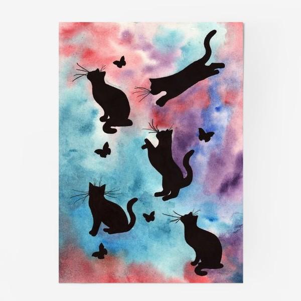 Постер «Абстракция с кошками»