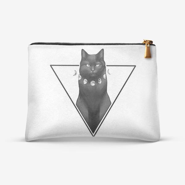 Косметичка «черный кот»