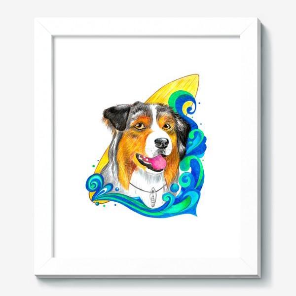 Картина «Собака-серфер»