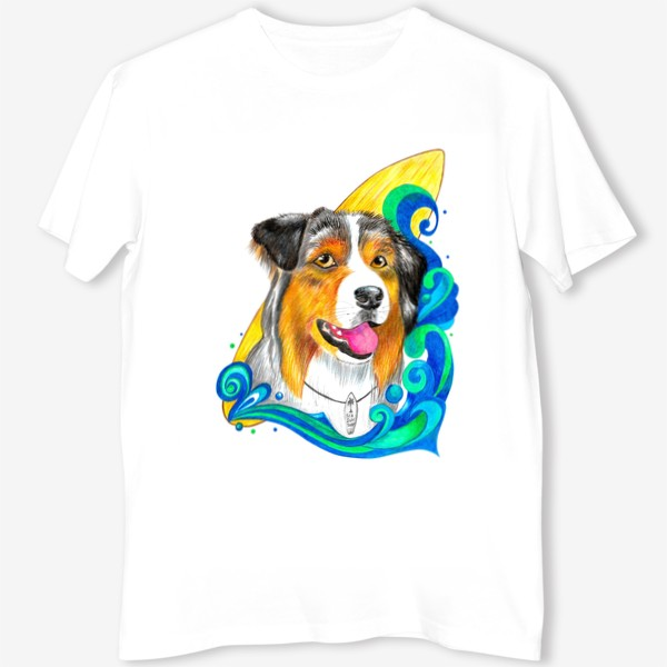 Футболка «Собака-серфер»