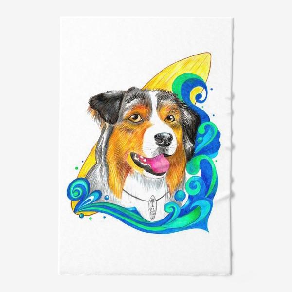 Полотенце «Собака-серфер»