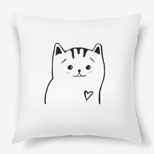 Подушка «Влюбленный котик. Это любовь. Сердечко»
