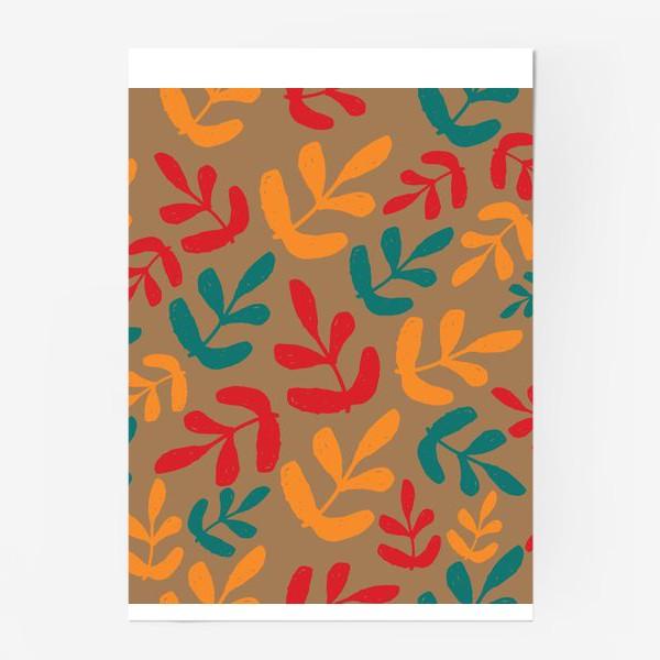 Постер «Разноцветные листья осени»