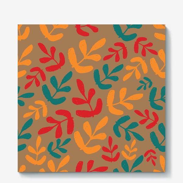 Холст «Разноцветные листья осени»
