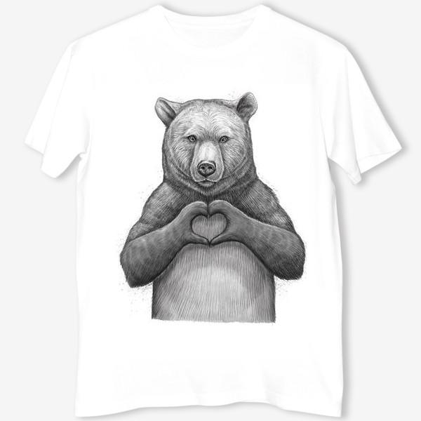 Футболка «Медведь с сердцем»