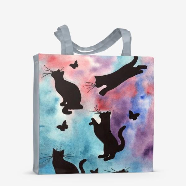 Сумка-шоппер «Абстракция с кошками»