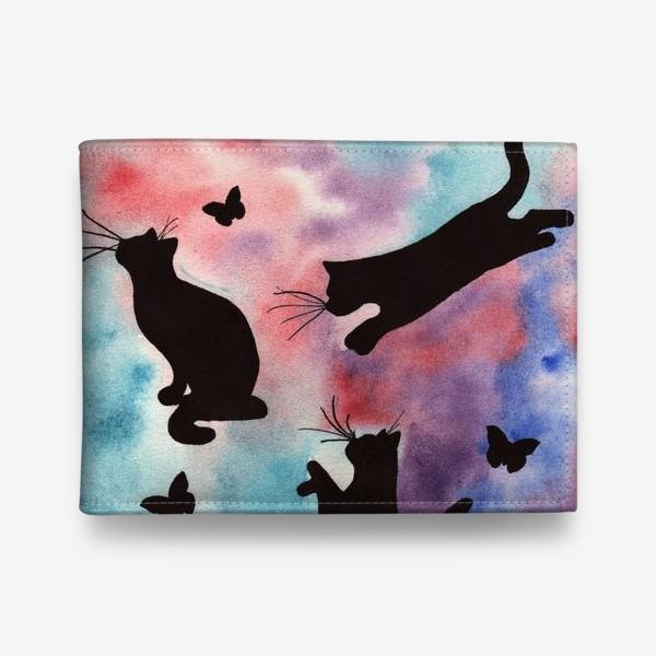 Кошелек «Абстракция с кошками»