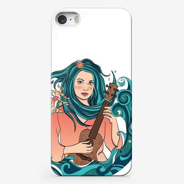 Чехол iPhone «Русалка играет на укулеле»