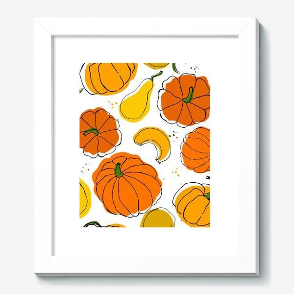 Картина «Яркие тыквы»