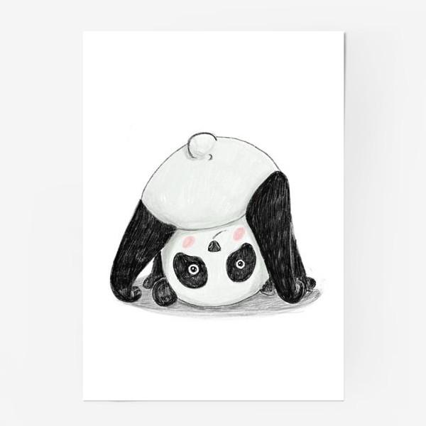 Постер «Панда-йога»