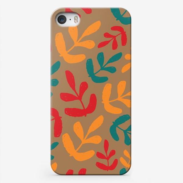 Чехол iPhone «Разноцветные листья осени»