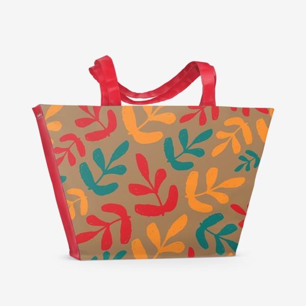 Пляжная сумка «Разноцветные листья осени»