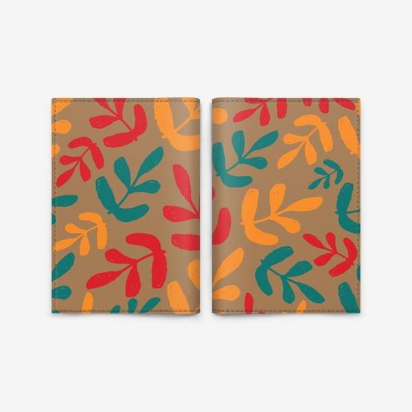 Обложка для паспорта «Разноцветные листья осени»