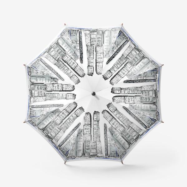 Зонт «Москва Сити монохром»